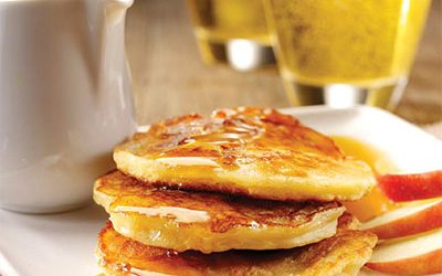 Apple Pancakes With Maple Cider Sauce