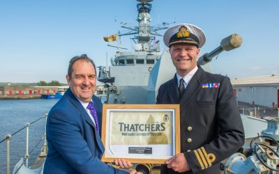 Thatchers on board HMS Somerset