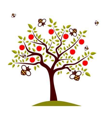 Cider Apple Tree Bees