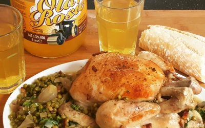 Old Rosie Chicken with French Peas