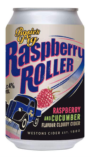 Westons Cider launches Rosie's Pig Raspberry Roller Cloudy Cider