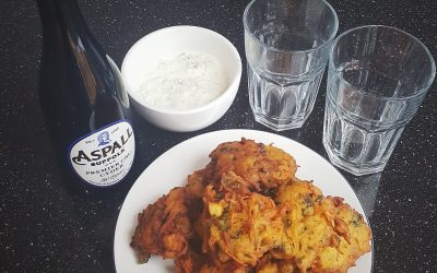 Aspall's Sweet Potato Pakoras