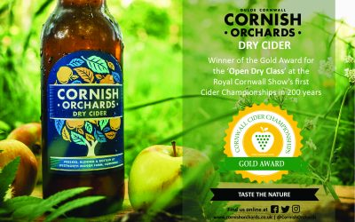 Cornish Orchards Dry Cider wins Gold