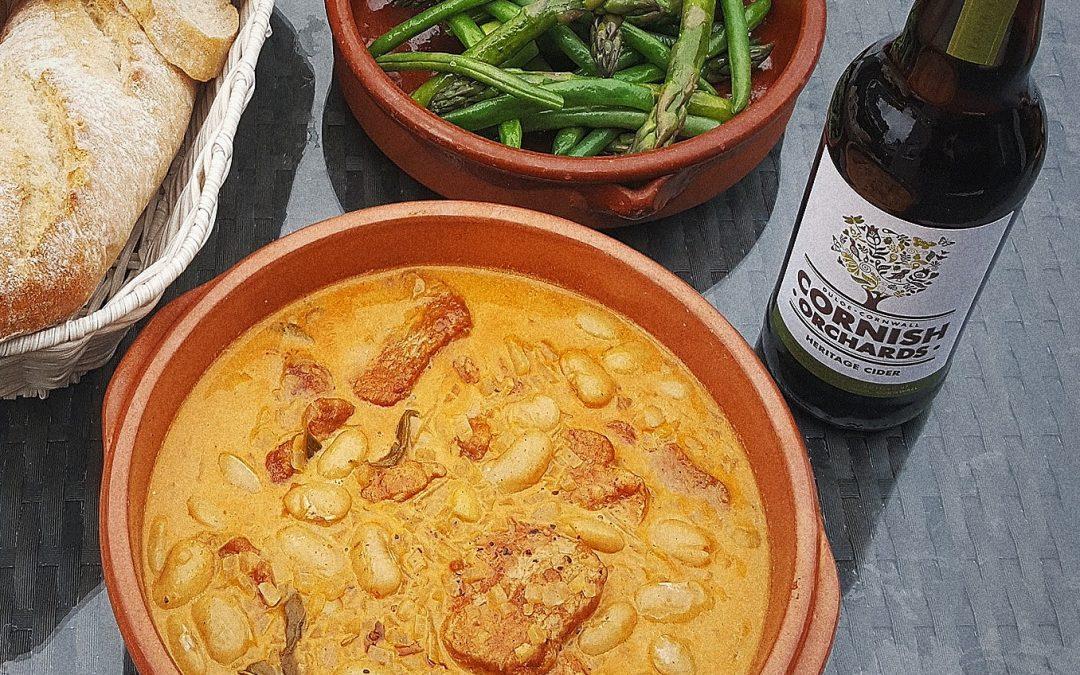 Paprika Pork with Cornish Orchards Heritage Cider