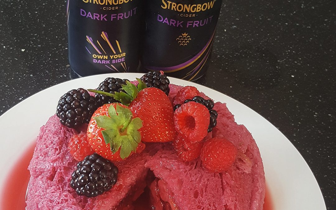 A sumptuous Strongbow Dark Fruit summer pudding!