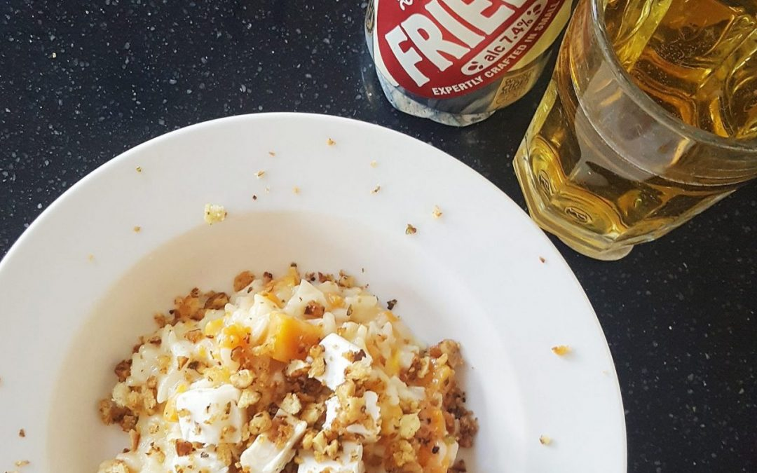Squash and Goat's Cheese Risotto with Friels Vintage Cider