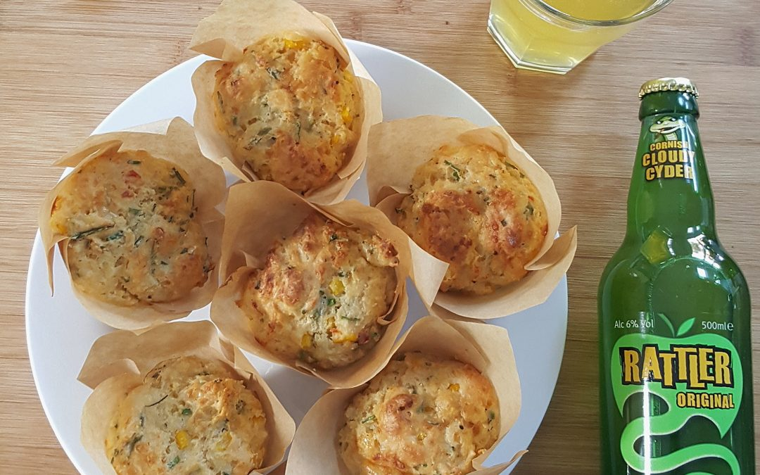 Healey's Cyder Chilli Cheese and Corn Muffins