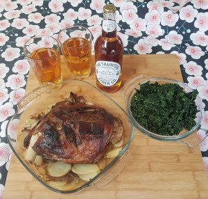 Roast Lamb Shoulder with Taunton Cider Gravy