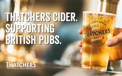 THATCHERS CIDER SUPPORTS BRITISH PUBS IN A £1MILLION PLEDGE