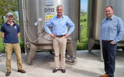 Richard Drax MP Shows Support for Cider Makers